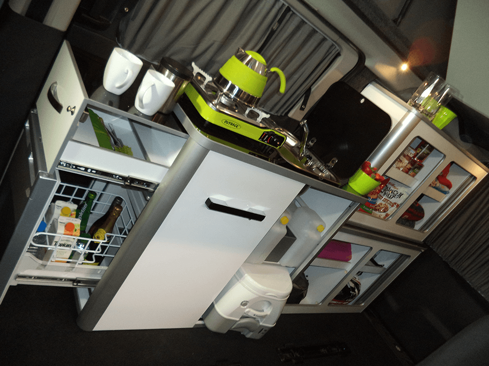 P14 centre left – Kitchen module inside